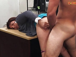 Milf masturbates with big boobs sells her husbands stuff for bail