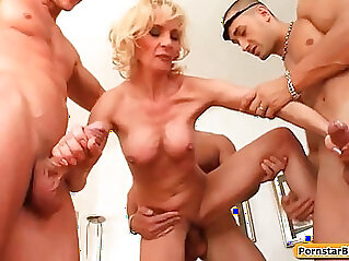 MIlf with Busty Sexy Housewife Getting Fucked